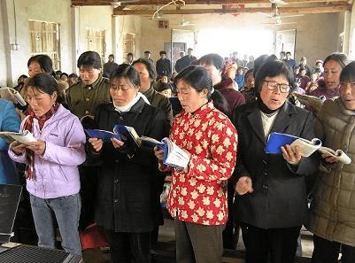 Cese y desista para casa-iglesia cristiana en provincia de China